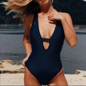 Cupshe my destiny plunge one piece swimsuit